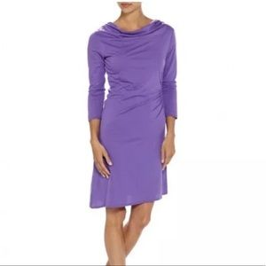 Patagonia Seabreaks purple cowl neck jersey dress